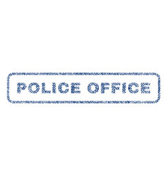 Police office textile stamp vector