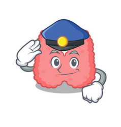 Police thyroid character cartoon style vector