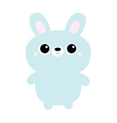 Rabbit bunny toy icon cute kawaii cartoon vector