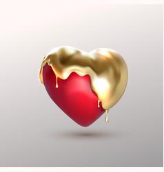 Realistic 3d heart shape vector