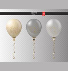realistic transparent helium set balloons vector image