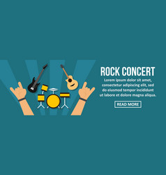 rock concert banner horizontal concept vector image
