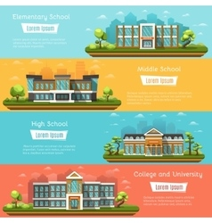 School and University buildings vector image