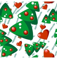 Seamless christmas tree grunge texture 544 vector image