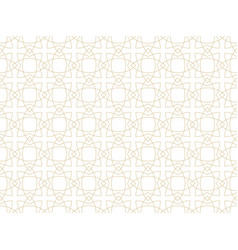 seamless ornamental gold pattern vector image