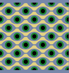 seamless pattern with eye like shapes vector image