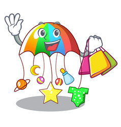 Shopping cartoon hanging toys with baby carousel vector