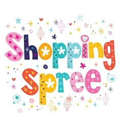 Shopping spree vector image