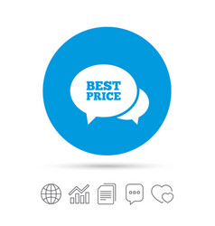 Speech bubble best price icon special offer vector