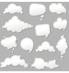 Speech Bubbles Set With Grey Background vector image