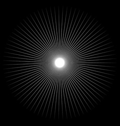 spiky shape element monochrome abstract vector image