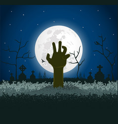 spooky halloween background vector image