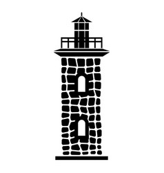 Stone lighthouse icon simple style vector