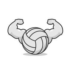 strong volleyball powerful gaming accessory vector image