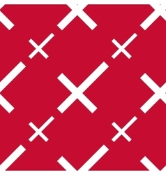 Stylized danish flag pattern vector