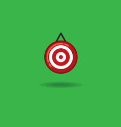 target on a green background vector image