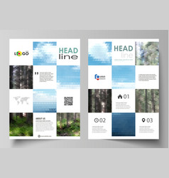templates for brochure magazine flyer booklet vector image