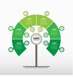 Tree of development and growth of the business vector