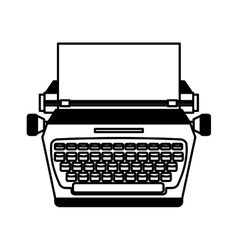 Typewrite retro isolated icon vector