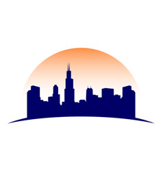 urban city skyline silhouette symbol graphic vector image