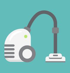 vacuum cleaner flat icon electric and appliance vector image