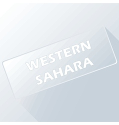 Western Sahara unique button vector