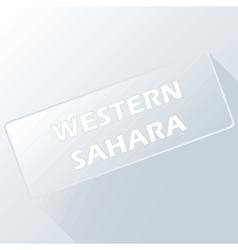 Western sahara unique button vector
