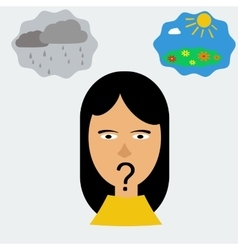 woman head in depression vector image