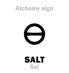 alchemy salt sal vector image vector image
