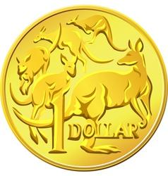 australian one dollar coin vector image vector image