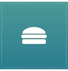Burger flat icon vector image vector image