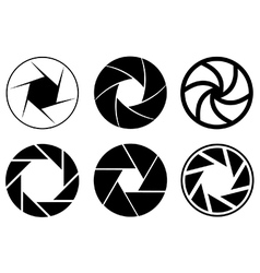 Camera aperture icons vector image