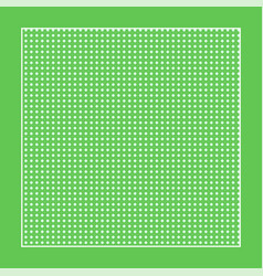 checkered green fabric with white circles and a vector image vector image