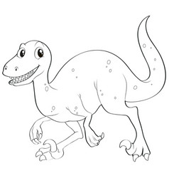 doodles drafting animal for dinosaur vector image
