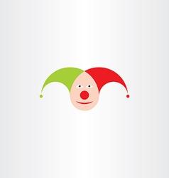 jester head icon symbol vector image