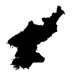 map of north korea outline vector image