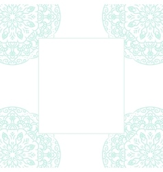 Baby blue mandala card template background vector image vector image