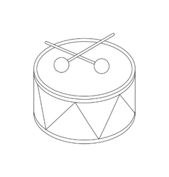 Toy drum icon isometric 3d style vector image vector image