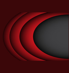abstract red curve overlap on black design vector image vector image