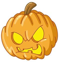 angry pumpkin vector image vector image