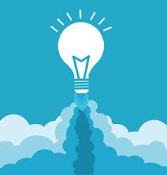 Bulb with rocket nozzles vector image vector image