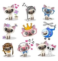 Cute anime kitten vector image vector image