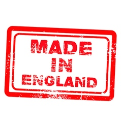 made in england red grunge stamp vector image vector image