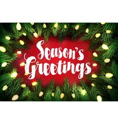 Seasons greetings Christmas greeting card vector image vector image