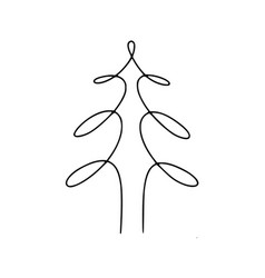 tree hand-drawn line vector image vector image