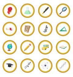 education cartoon icon circle vector image