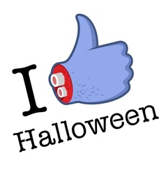 Halloween LikeThumbs Up symbol vector image vector image