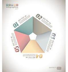 Infographic design - original paper vector image
