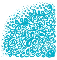 Ornament elements in blue and white colors vector image vector image