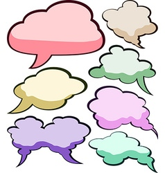 Speech color clouds vector image